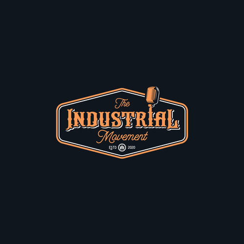 Podcast logo with the title 'The Industrial Movement'