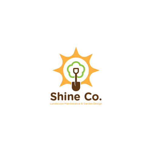 Sun and tree logo with the title 'Shine Co.'