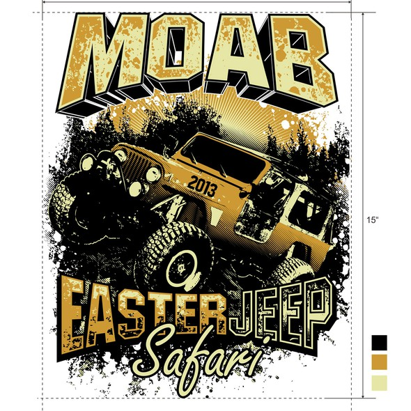 Jeep design with the title 'Event Tee Shirt Design for Annual Event'