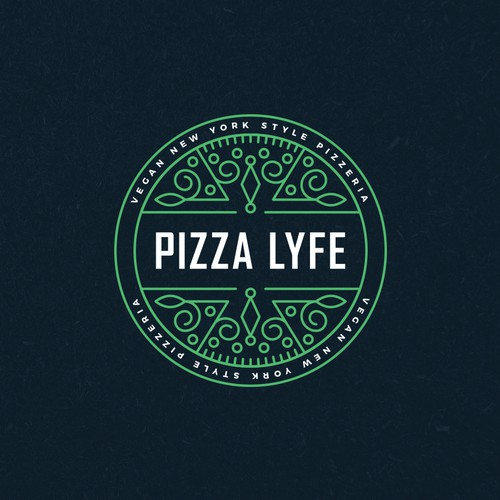 New York logo with the title 'Modern Hip Pizza Logo'