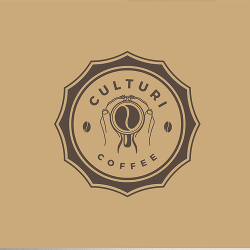Cultural design with the title 'LOGO CONCEPT FOR CULTURI COFFEE'