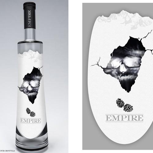 Vodka label with the title 'Vodka bottle design'