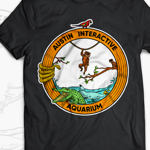 Shark t-shirt with the title 'Austin Interactive'