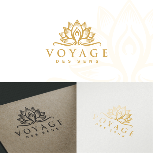 Peaceful design with the title 'Pure Estetic Logo concept for Voyage des Sens'