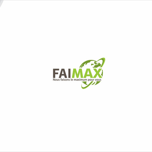 Confident logo with the title 'Bold logo for faimax'