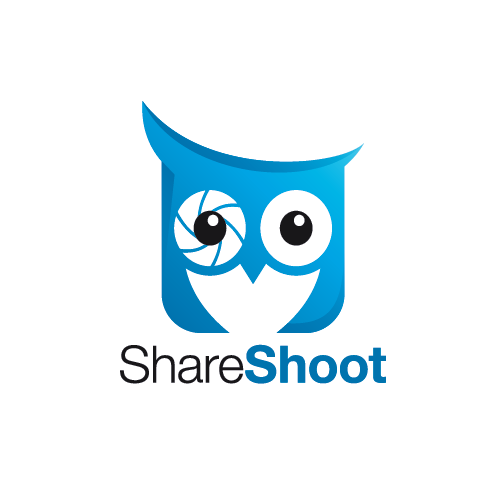 Photography logo with the title 'ShareShoot - a social, event-based photo sharing app, needs a logo!'