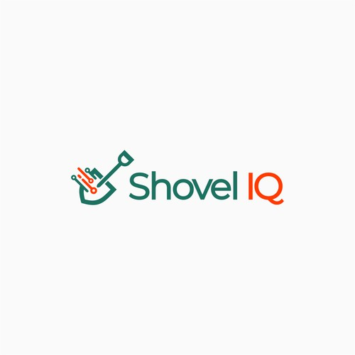 Shovel logo with the title 'Minimalist logo for shovel IQ'