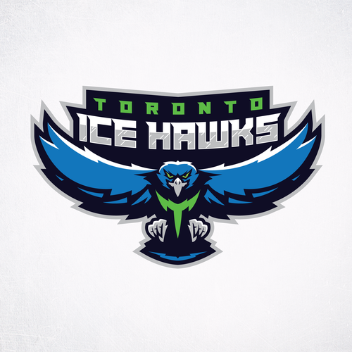 Hawk logo with the title 'Toronto Ice Hawks'