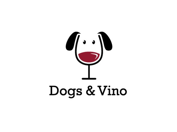 Glass logo with the title 'Dog vs. Wine'
