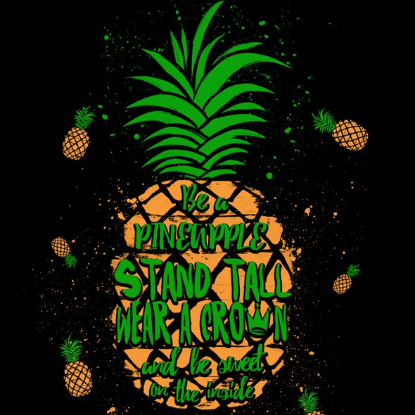 Party artwork with the title 'Pineapple Quotes'