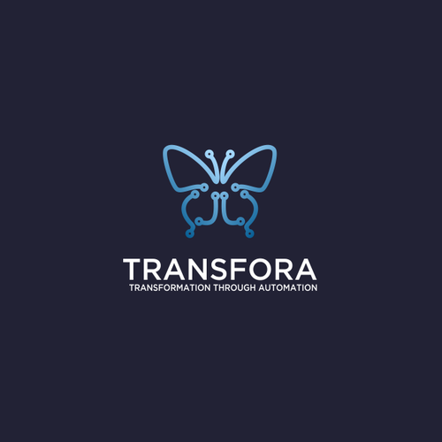 Circuit design with the title 'Transfora - Logo for an online service to automate business processes'
