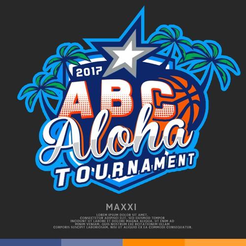 Basketball t-shirt with the title 'ABC ALOHA TOURNAMENT'