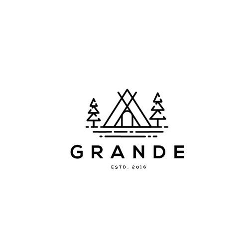 Road trip logo with the title 'Grande logo'