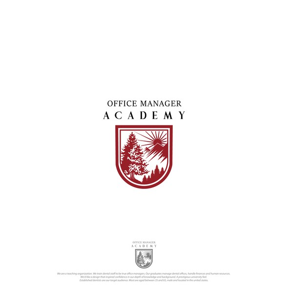 Academy brand with the title 'Crest logo for Academy '