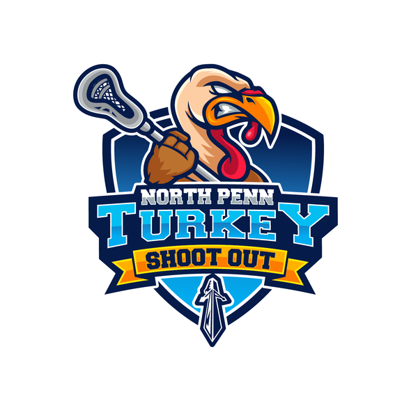 Thanksgiving logo with the title 'North Penn Turkey Shootout'