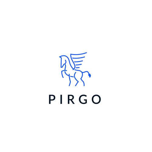 Pegasus design with the title 'Pirgo '