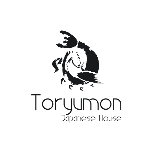 Japanase restaurant logo with the title 'Toryumon Logo'