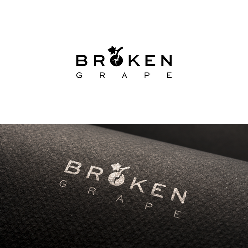 Grapevine logo with the title 'Brokene Grape Logo Design'