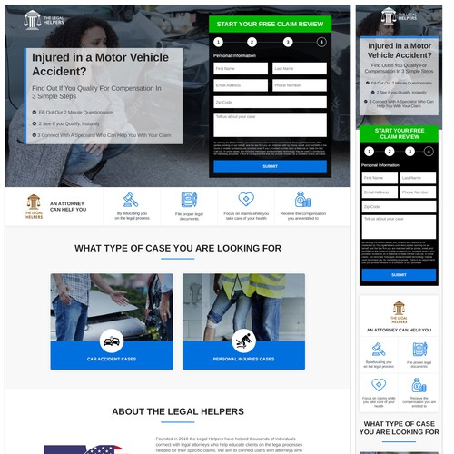 Conversion design with the title 'Landing page design'