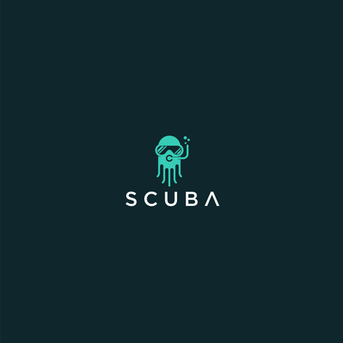 Squid design with the title 'logo for This is for a Business Intelligence and real time analytics tool used by data product managers, data scientists and business analysts '