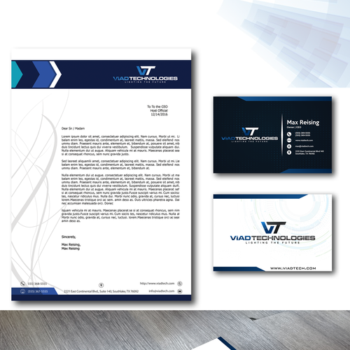 Strong brand with the title 'Logo Designs and Branding Viad Tech. '