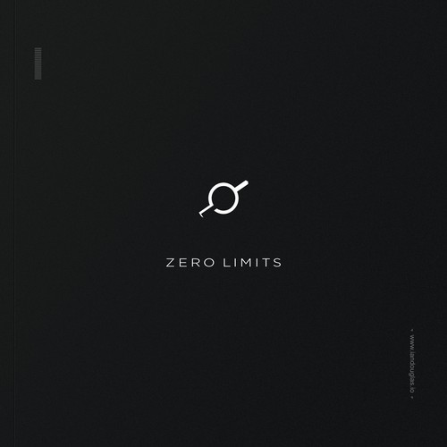 Marketing design with the title 'Astronomical, minimalist mark for Zero Limits'