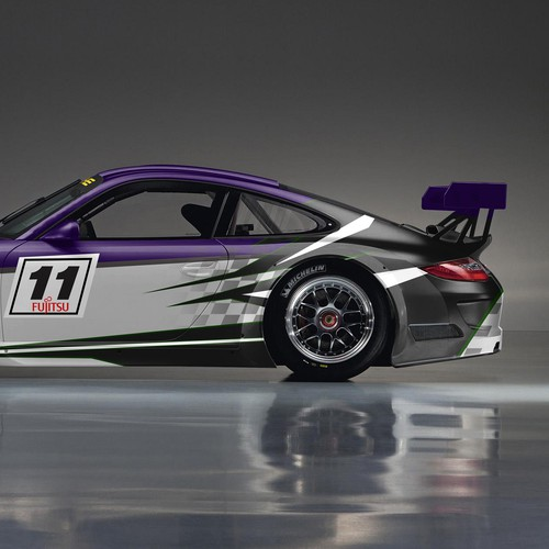Porsche design with the title 'Design rennauto (racing car) Porsche Cup (991)'