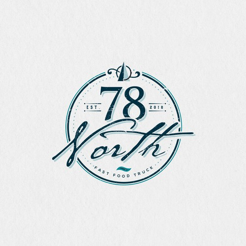 North design with the title 'Logo design for 78 North'