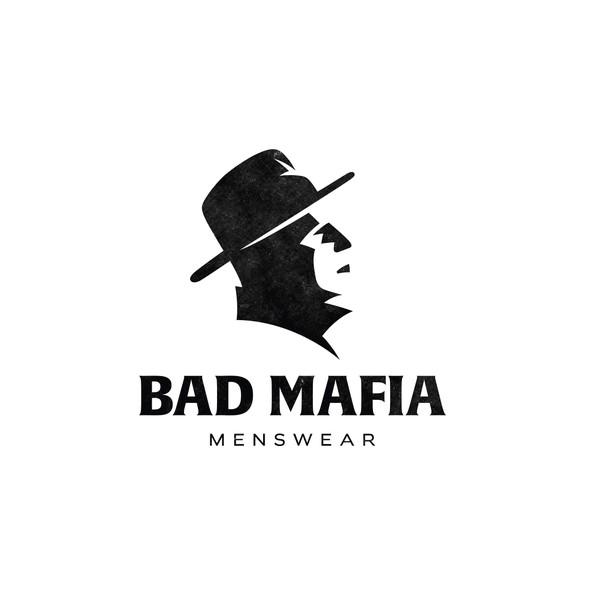 Mafia design with the title 'Minimalist logo for Bad Mafia.'
