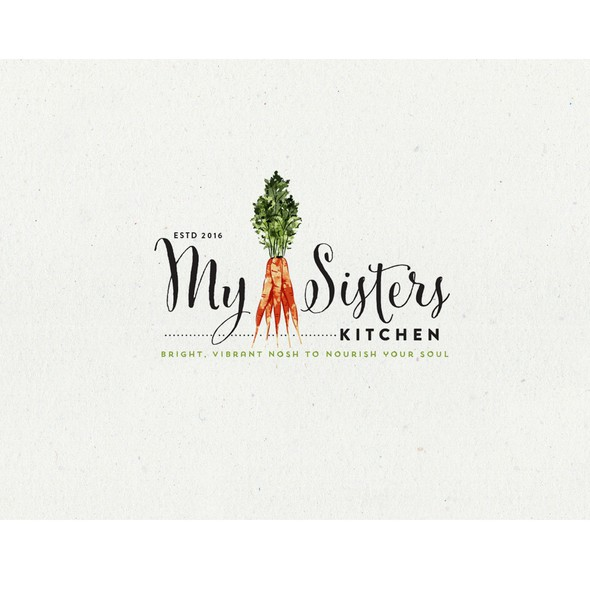 Shabby chic logo with the title 'Logo Design for My Sisters Kitchen'