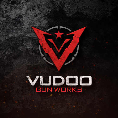 Tactical design with the title 'Vudoo Gun Works'