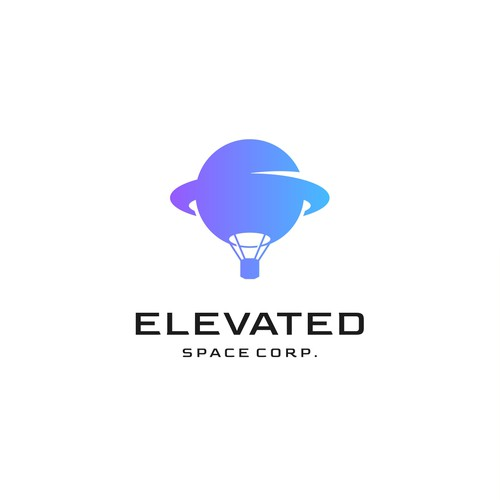 Astronomy design with the title 'elevated space corp.'