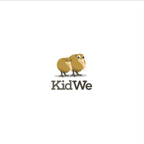 Kiwi logo with the title 'kiwi bird logo'