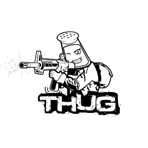 Soldier logo with the title 'Gaming Team Logo concept for THUG'