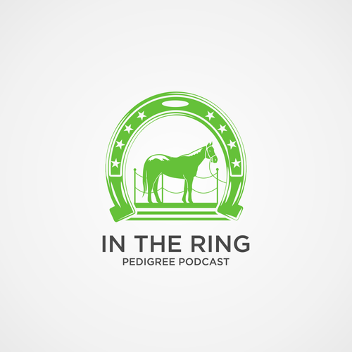 Auction logo with the title 'bold logo concept for pedigree podcast'