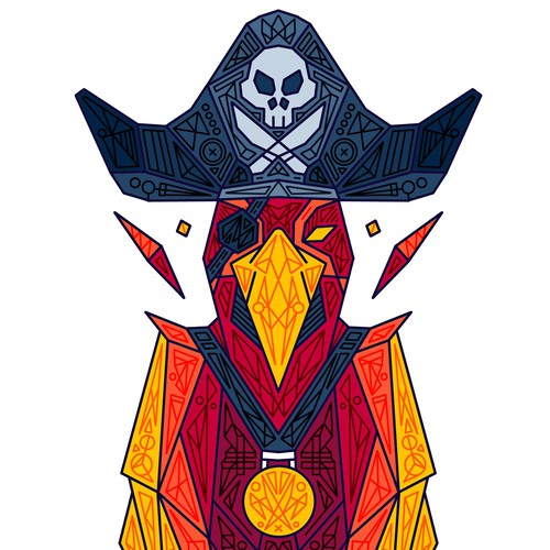 Patch design with the title 'Pirate Parrot'