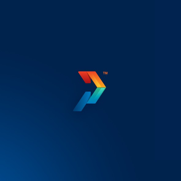 Forward design with the title 'Negative space energetic logo'