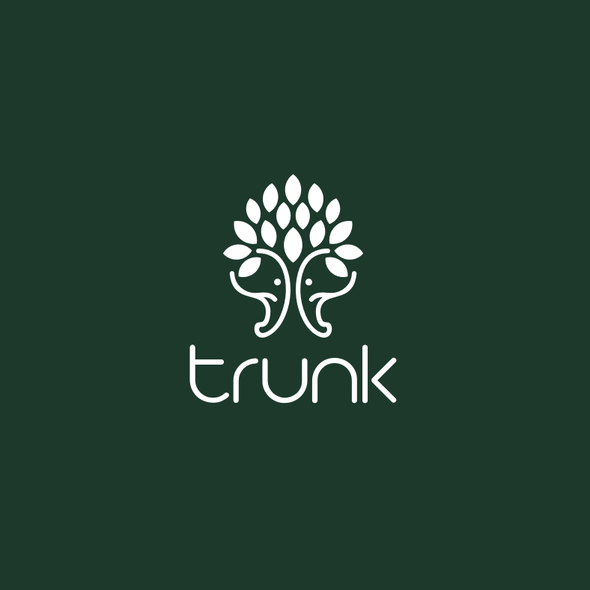 Elephant head logo with the title 'trunk'