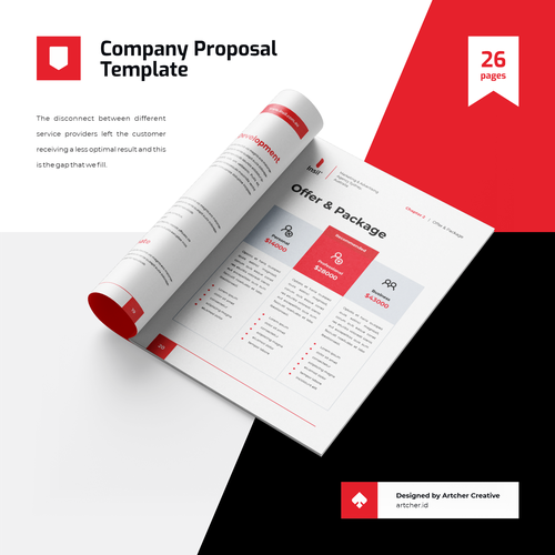 Proposal design with the title 'Professional Company Proposal Template'