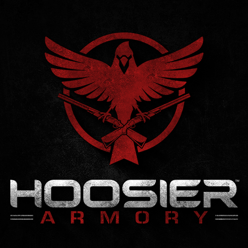 Army logo with the title 'Logo design for Hoosier Armory'