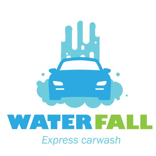 Fall logo with the title 'Carwash logo'