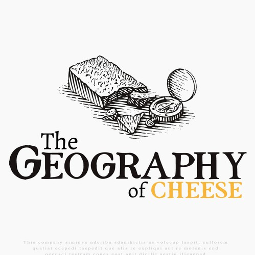 Cheese logo with the title 'Logo for The Geography of Cheese'