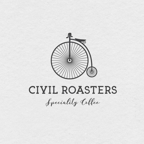 Slab serif logo with the title 'Civil Roasters'