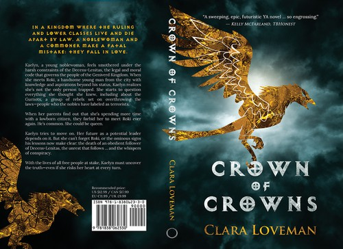 """Modern book cover with the title 'Redesign of """"Crown of Crowns"""" Book Cover'"""