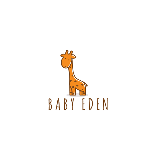 Kid's clothing logo with the title 'Logo concept for a childcare products company'