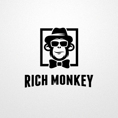 Hipster design with the title 'Rich Monkey'