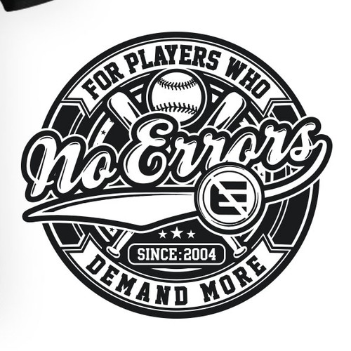 Softball design with the title 'NO ERRORS'