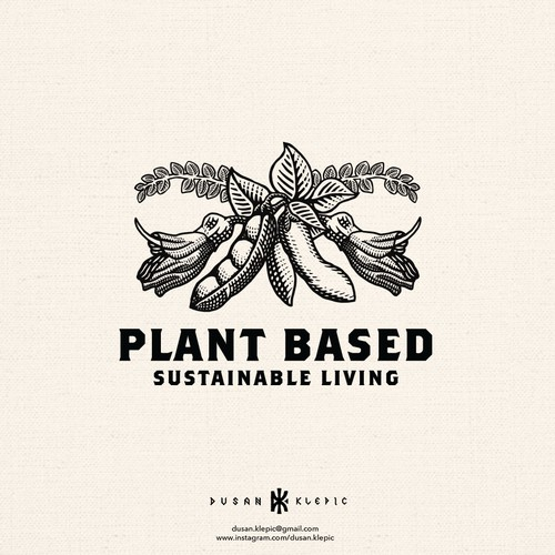 Natural design with the title 'Plant Based - Sustainable living'
