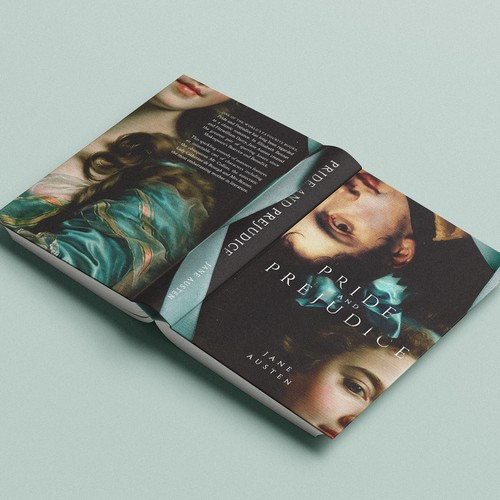 Publisher design with the title 'Deluxe edition of Pride and Prejudice'