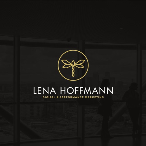 Performance design with the title 'Logo design for Lena Hoffmann'